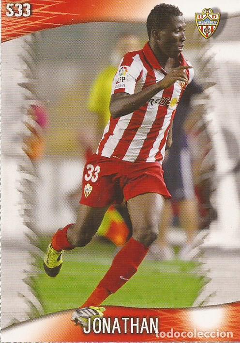 2013-2014 - 533 JONATHAN - UD ALMERIA - MUNDICROMO OFFICIAL QUIZ GAME - 10 (Coleccionismo Deportivo - Álbumes y Cromos de Deportes - Cromos de Fútbol)