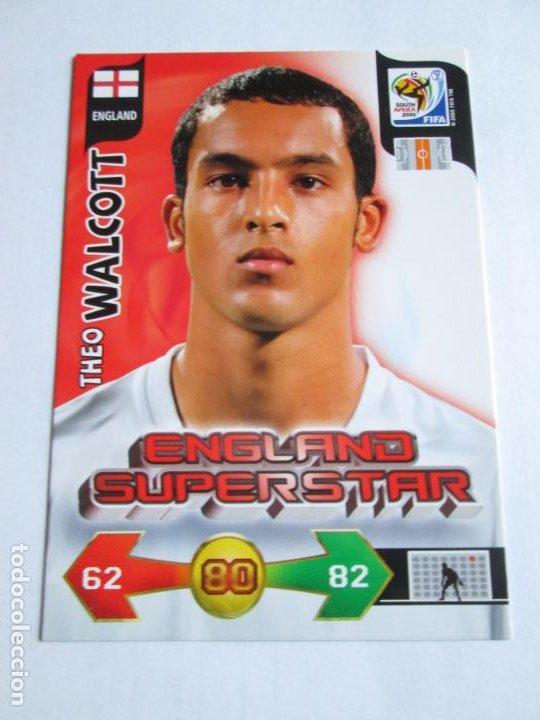 THEO WALCOTT ENGLAND SUPERSTAR 2010 ADRENALYN SOUTH AFRICA INGLATERRA SUPER STAR (Coleccionismo Deportivo - Álbumes y Cromos de Deportes - Cromos de Fútbol)