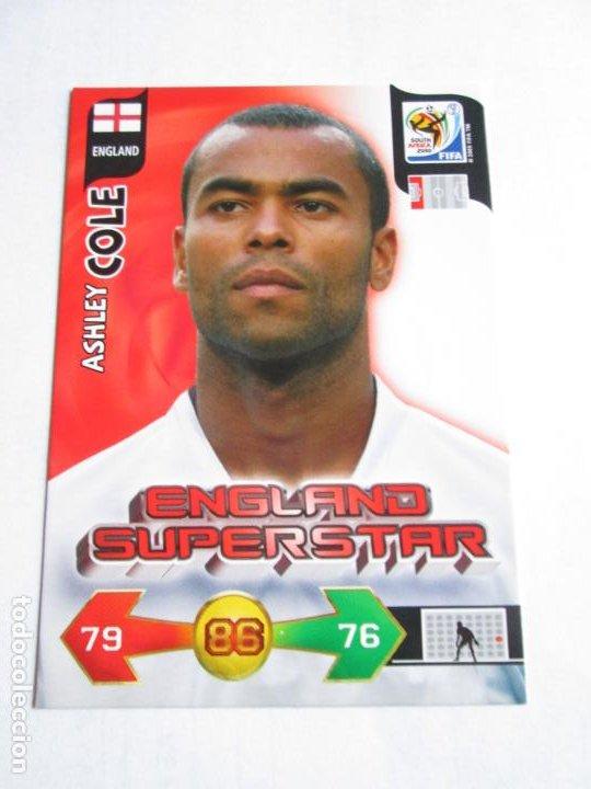 ASHLEY COLE ENGLAND SUPERSTAR 2010 ADRENALYN SOUTH AFRICA INGLATERRA SUPER STAR (Coleccionismo Deportivo - Álbumes y Cromos de Deportes - Cromos de Fútbol)