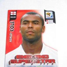 Cromos de Fútbol: ASHLEY COLE ENGLAND SUPERSTAR 2010 ADRENALYN SOUTH AFRICA INGLATERRA SUPER STAR. Lote 190891323