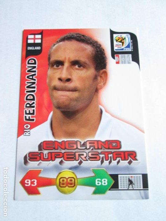 RIO FERDINAND ENGLAND SUPERSTAR 2010 ADRENALYN SOUTH AFRICA INGLATERRA SUPER STAR (Coleccionismo Deportivo - Álbumes y Cromos de Deportes - Cromos de Fútbol)