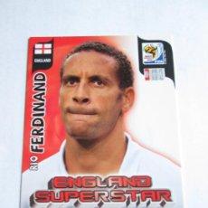 Cromos de Fútbol: RIO FERDINAND ENGLAND SUPERSTAR 2010 ADRENALYN SOUTH AFRICA INGLATERRA SUPER STAR. Lote 190891333