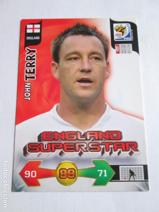 JOHN TERRY ENGLAND SUPERSTAR 2010 ADRENALYN SOUTH AFRICA INGLATERRA SUPER STAR (Coleccionismo Deportivo - Álbumes y Cromos de Deportes - Cromos de Fútbol)