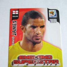 Cromos de Fútbol: DAVID JAMES ENGLAND SUPERSTAR 2010 ADRENALYN SOUTH AFRICA INGLATERRA SUPER STAR. Lote 190891401