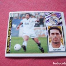 Cromos de Fútbol: ESTE 97-98 BAJA ALKORTA R.MADRID NUEVO SIN PEGAR. Lote 191109958