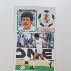 Cromos de Fútbol: SUBASTA INICIAL 1 CENTIMO JULIO L MADRID DOBLE FICHAJE ESTE 83 84 DESPEGADO VER FOTOS. Lote 191120081