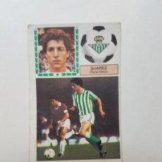 Cromos de Fútbol: SUBASTA INICIAL 1 CENTIMO SUÁREZ BETIS PINTADO 14 FICHAJE ESTE 83 84 DESPEGADO VER FOTOS. Lote 191120217