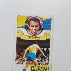 Cromos de Fútbol: SUBASTA INICIAL 1 CENTIMO PEPE JUAN LAS PALMAS BAJA ESTE 85 86 DESPEGADO VER FOTOS. Lote 191121661