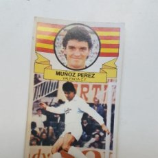 Cromos de Fútbol: SUBASTA INICIAL 1 CENTIMO MUÑOZ PÉREZ VALENCIA FICHAJE ESTE 85 86 DESPEGADO VER FOTOS. Lote 191123566