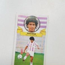 Cromos de Fútbol: SUBASTA INICIAL 1 CENTIMO ARABENA VALLADOLID FICHAJE ESTE 85 86 DESPEGADO VER FOTOS. Lote 191123596