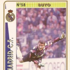 Cartes à collectionner de Football: 1994-1995 - 58 BUYO - REAL MADRID - MUNDICROMO - 16. Lote 191221777