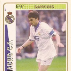 Cartes à collectionner de Football: 1994-1995 - 61 SANCHIS - REAL MADRID - MUNDICROMO - 9. Lote 191224582