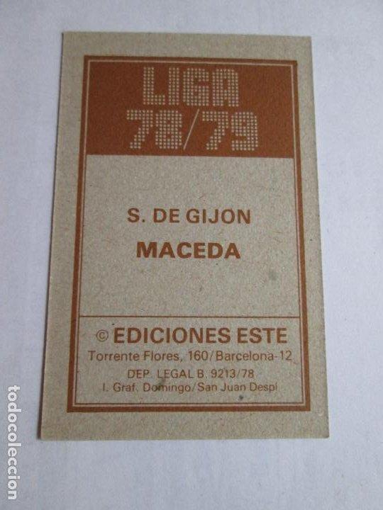Cromos de Fútbol: MACEDA SPORTIN GIJÓN 78 79 EDICIONES ESTE LIGA 1978 1979 NUNCA PEGADO - Foto 2 - 191332561