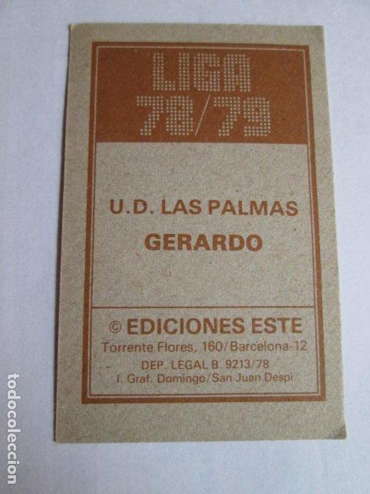 Cromos de Fútbol: GERARDO LAS PALMAS 78 79 EDICIONES ESTE LIGA 1978 1979 NUNCA PEGADO - Foto 2 - 191332908