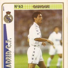 Cartes à collectionner de Football: 1994-1995 - 63 QUIQUE - REAL MADRID - MUNDICROMO - 59. Lote 191343360