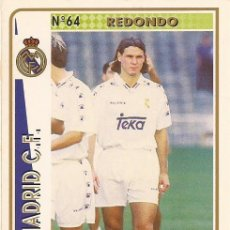 Cartes à collectionner de Football: 1994-1995 - 64 REDONDO - REAL MADRID - MUNDICROMO - 41. Lote 191346432