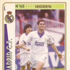Cartes à collectionner de Football: 1994-1995 - 65 HIERRO - REAL MADRID - MUNDICROMO - 39. Lote 191349772