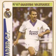 Cartes à collectionner de Football: 1994-1995 - 67 MARTIN VAZQUEZ - REAL MADRID - MUNDICROMO - 51. Lote 191405076