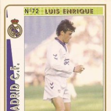 Cartes à collectionner de Football: 1994-1995 - 72 LUIS ENRIQUE - REAL MADRID - MUNDICROMO - 22. Lote 191417526