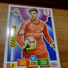 Cromos de Fútbol: TRADING CARD ADRENALYN 2018/19, EDITORIAL PANINI, JUGADOR COURTOIS (R. MADRID). Lote 191539521