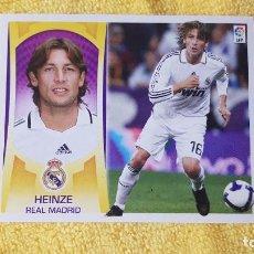 Cromos de Fútbol: HEINZE. REAL MADRID. LIGA ESTE 09/10. 2009/2010. SIN PEGAR. Lote 191539828