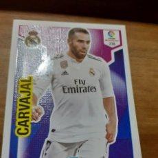 Cromos de Fútbol: TRADING CARD ADRENALYN 2018/19, EDITORIAL PANINI, JUGADOR CARVAJAL (R. MADRID). Lote 191539843