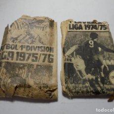 Cromos de Fútbol: MAGNIFICOS 2 SOBRES VACIOS DE FUTBOL ESTE TEMPORADA 1974-75 Y 1975-76. Lote 191686417