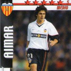 Cromos de Fútbol: AIMAR (VALENCIA C.F.) - FUTBOL MATCH TOTAL - LIGA 2002/2003 - MAGIC BOX INT.. Lote 191993335