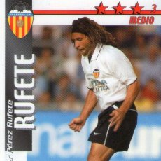 Cromos de Fútbol: RUFETE (VALENCIA C.F.) - FUTBOL MATCH TOTAL - LIGA 2002/2003 - MAGIC BOX INT.. Lote 191993386