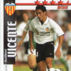 Cromos de Fútbol: VICENTE (VALENCIA C.F.) - FUTBOL MATCH TOTAL - LIGA 2002/2003 - MAGIC BOX INT.. Lote 191993518