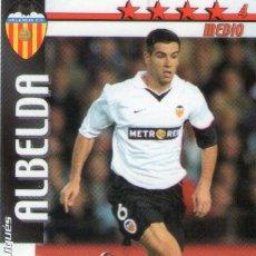 Cromos de Fútbol: ALBELDA (VALENCIA C.F.) - FUTBOL MATCH TOTAL - LIGA 2002/2003 - MAGIC BOX INT.. Lote 191993616