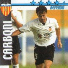 Cromos de Fútbol: CARBONI (VALENCIA C.F.) - FUTBOL MATCH TOTAL - LIGA 2002/2003 - MAGIC BOX INT.. Lote 191993770
