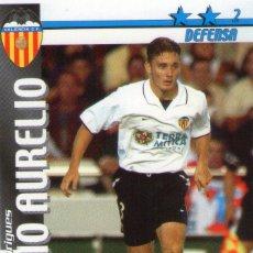Cromos de Fútbol: FABIO AURELIO (VALENCIA C.F.) - FUTBOL MATCH TOTAL - LIGA 2002/2003 - MAGIC BOX INT.. Lote 191993980