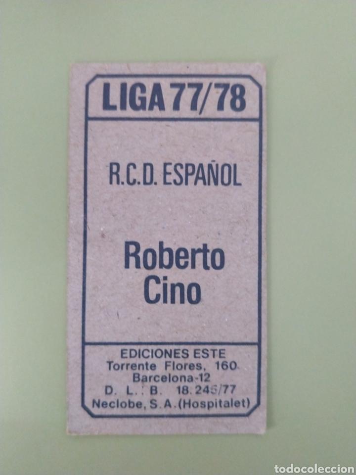 Cromos de Fútbol: Cromo baja Roberto Cino liga Este 77 78 1977 1978 - Foto 2 - 194097961