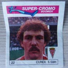 Cromos de Fútbol: SUPER-CROMO BOOMER - Nº 22 - CUNDI - SPORTING DE GIJÓN. Lote 268474059