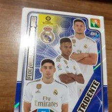 Cromos de Fútbol: TRADING CARD ADRENALYN 2019/2020, EDITORIAL PANINI, EQUIPO REAL MADRID (TRIDENTE), SIN ACTIVAR. Lote 194233820