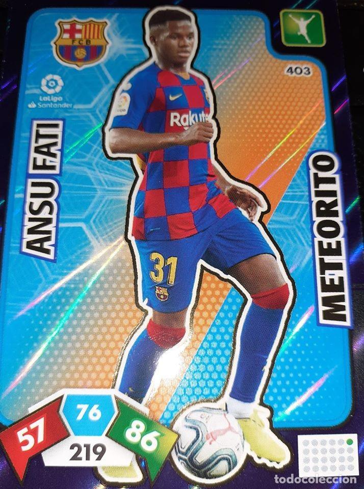 TRADING CARD ADRENALYN 2019/2020, EDITORIAL PANINI, JUGADOR ANSU FATI (METEORITO), SIN ACTIVAR (Coleccionismo Deportivo - Álbumes y Cromos de Deportes - Cromos de Fútbol)