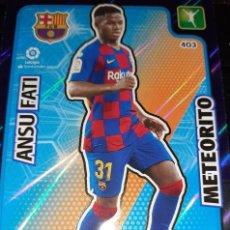 Cromos de Fútbol: TRADING CARD ADRENALYN 2019/2020, EDITORIAL PANINI, JUGADOR ANSU FATI (METEORITO), SIN ACTIVAR. Lote 194233881