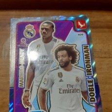 Cromos de Fútbol: TRADING CARD ADRENALYN 2019/2020, EDITORIAL PANINI,MARCELO-MENDY (DOBLE IRONMAN), SIN ACTIVAR. Lote 194233992