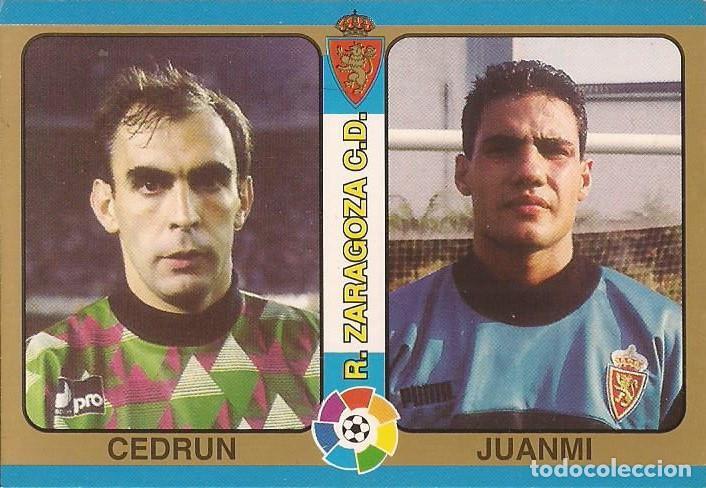 1995 FUTBOL TOTAL - 19 CEDRUN-JUANMI - REAL ZARAGOZA - MUNDICROMO - 19 (Coleccionismo Deportivo - Álbumes y Cromos de Deportes - Cromos de Fútbol)
