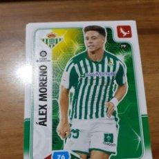 Cromos de Fútbol: TRADING CARD ADRENALYN 2019/2020, EDITORIAL PANINI,ALEX MORENO (REAL BETIS),SIN ACTIVAR Nº 79. Lote 194245428