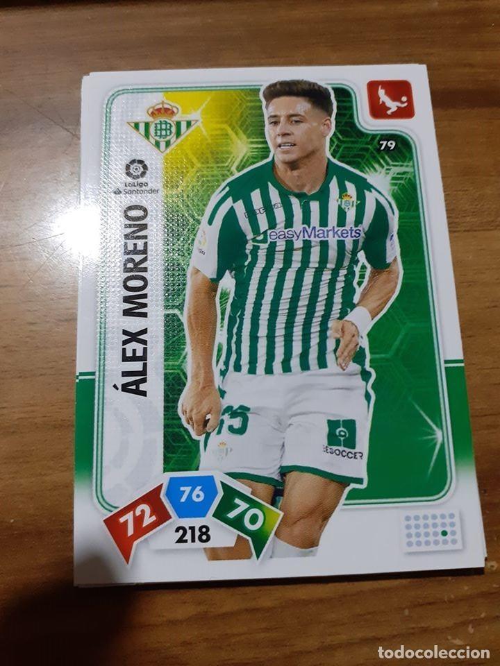 TRADING CARD ADRENALYN 2019/2020, EDITORIAL PANINI,ALEX MORENO (REAL BETIS),SIN ACTIVAR Nº 79 (Coleccionismo Deportivo - Álbumes y Cromos de Deportes - Cromos de Fútbol)