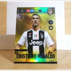 Cromos de Fútbol: ADRENALYN XL FIFA 365 2018 2019 18 19 PANINI CRISTIANO RONALDO 9 TOP MASTER JUVENTUS CARD CROMO RARE. Lote 194252860