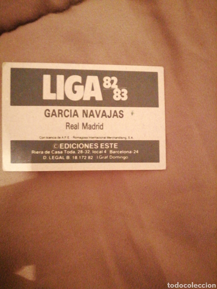 Cromos de Fútbol: García Navajas 82-83 R. Madrid sin publicidad. Muy difícil. Sin pegar - Foto 2 - 194254300