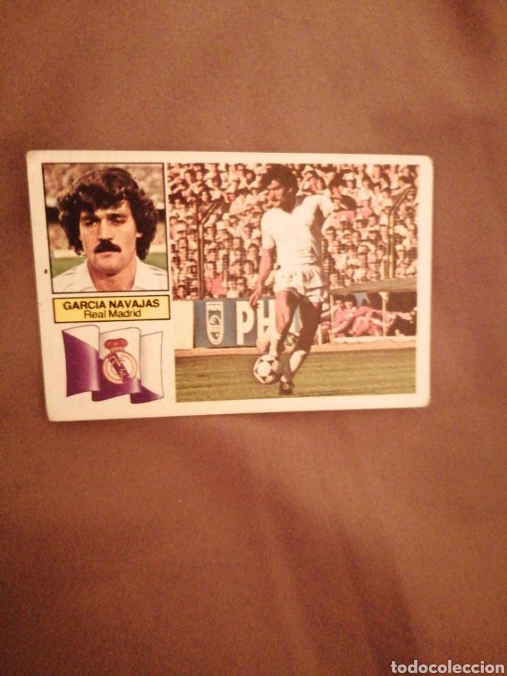 GARCÍA NAVAJAS 82-83 R. MADRID SIN PUBLICIDAD. MUY DIFÍCIL. SIN PEGAR (Coleccionismo Deportivo - Álbumes y Cromos de Deportes - Cromos de Fútbol)