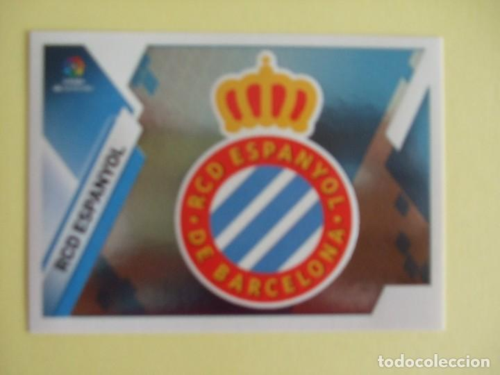 LIGA ESTE 219-2020. ESCUDO. Nº 15. RCD ESPANYOL (Coleccionismo Deportivo - Álbumes y Cromos de Deportes - Cromos de Fútbol)