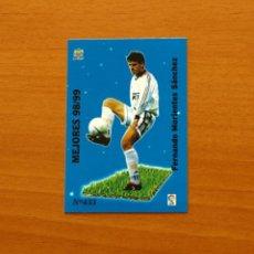Cromos de Fútbol: REAL MADRID - Nº 433, MORIENTES - MEJORES 98-99 - LAS FICHAS DE LA LIGA MUNDICROMO 1999-2000, 99-00 . Lote 194271106