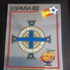 Cromos de Fútbol: CROMO PANINI MUNDIAL ESPAÑA 82 - NÚMERO 328 - ESCUDO IRLANDA DEL NORTE - SIN PEGAR. Lote 194292892