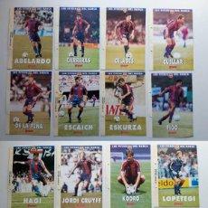 Cromos de Fútbol: 19 FITXES DEL BARÇA SPORTS BANCA CATALANA. LAS DE LA IMAGEN. Lote 194293457