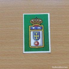 Cromos de Fútbol: ESCUDO REAL OVIEDO EDICIONES ESTE 1988 1989 LIGA 88 89 SIN PEGAR NUNCA PEGADO. Lote 194335804